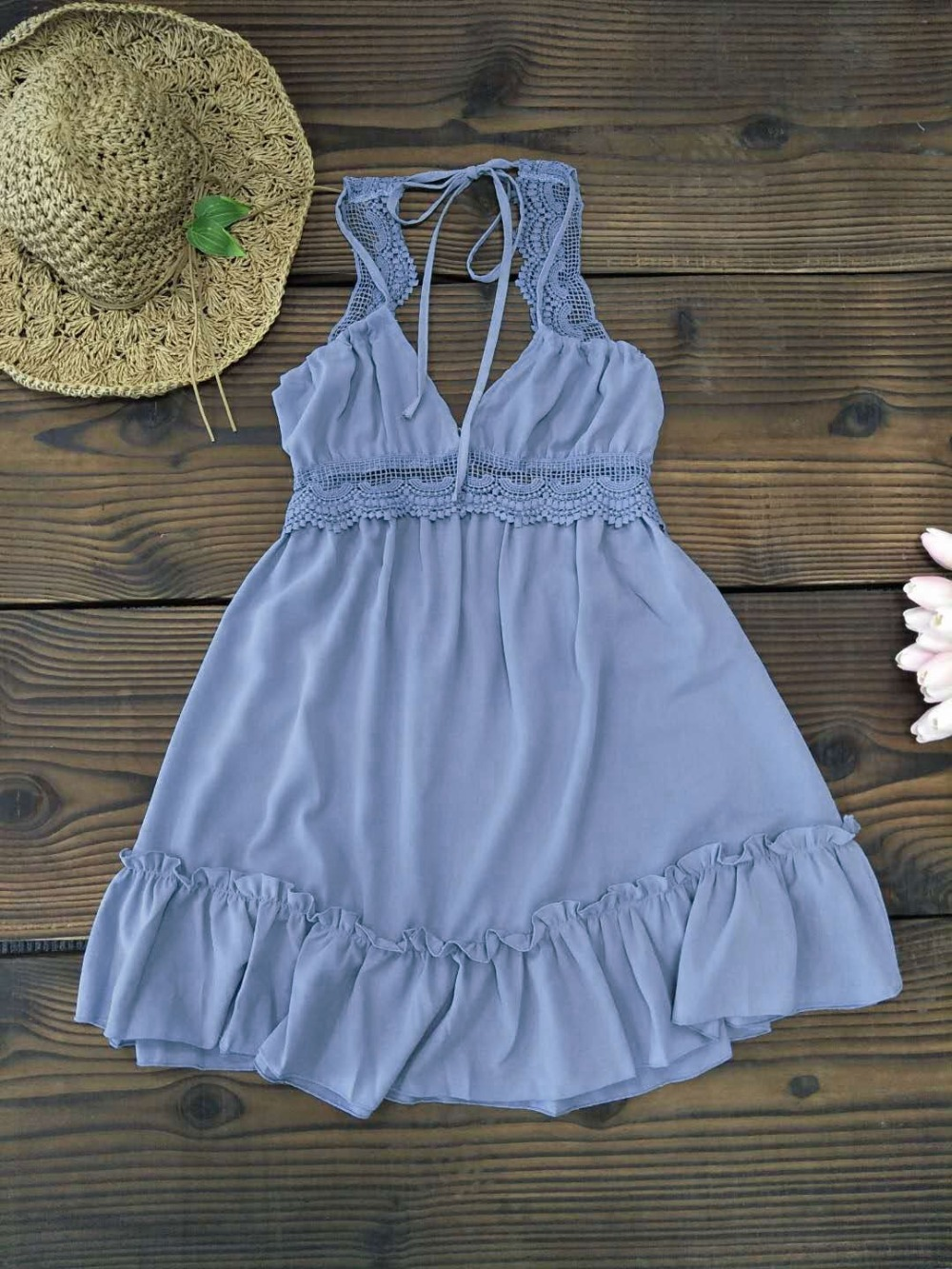 2019 Newest Ladies Cover-Up, V Neck Swimwear Cover Up, Lace Hollow Crochet Swimsuit Beach Dress, Women's Bathing Suit Beach Cover Up 21