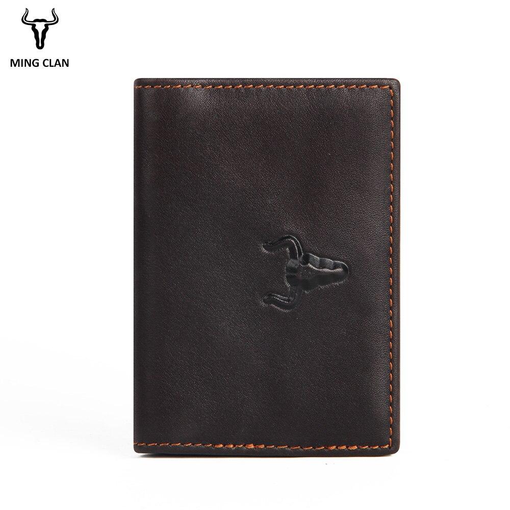 Card Holder Minimalism Leather Wallet Vintage ID Wallet Mini Purse Cards Organizer Cardholder Id Card & Credit Card Holder 2018
