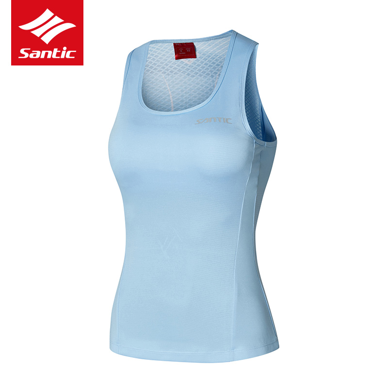 Cycling Jerseys Women Sleeveless Santic Quick Dry Outdoor Sports Summer Breathable MTB Road Bike Jersey Women Jersey