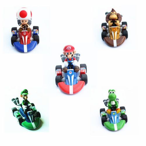 5x super mario kart pull back racers car wii luig yoshi for Coupe miroir mario kart wii