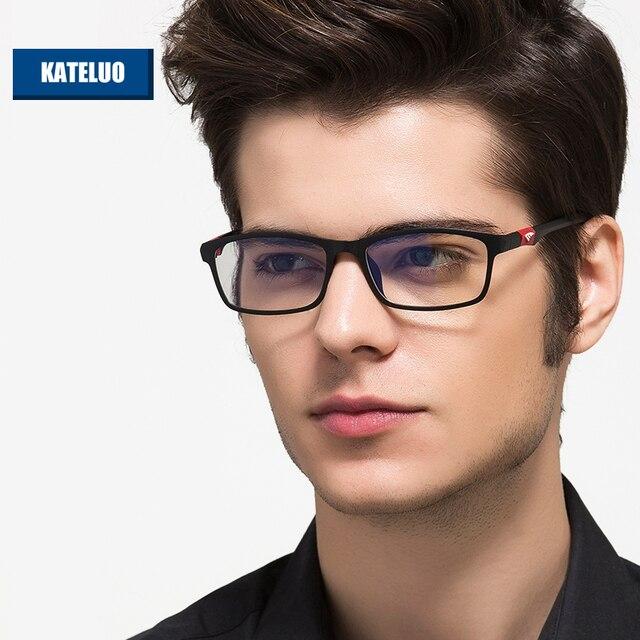 ACERO AL CARBONO de TUNGSTENO Anteojos de la Computadora Antifatiga Gafas de Lectura resistentes a la Radiación Marco de Anteojos Gafas de grau RE13022