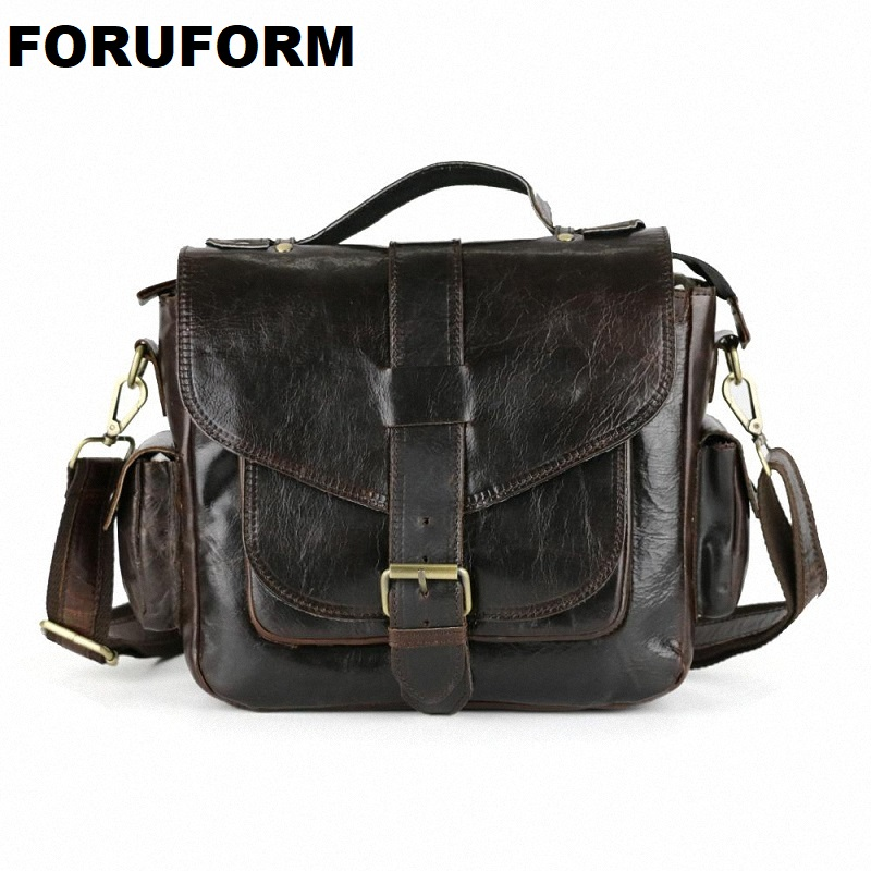 Hot Selling Men Bag 100% Genuine Leather Bags Men Messenger Bags Crossbody Shoulder men's Travel Bag New Free Shipping LI-863 hot 2017 genuine leather bags men high quality messenger bags small travel black crossbody shoulder bag for men li 1611