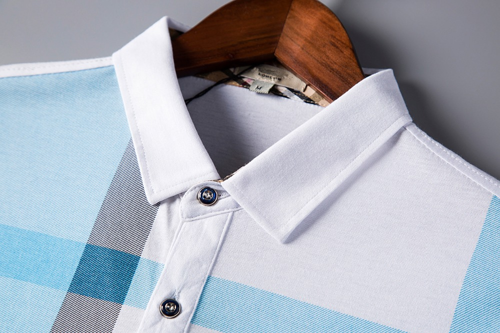 Summer polo shirt men high quality brand clothing short sleeve cotton business casual breathable homme camisa plus size XXXL  3