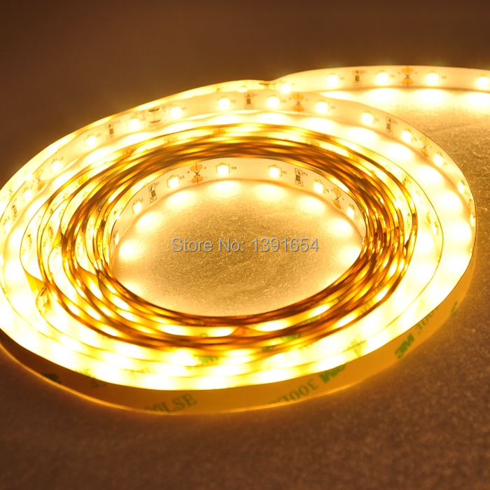 DHL Free Shipping 1200Lm/M 8mm PCB Bright 22-24LM/led DC12V 24V 12W/M 2835 LED strip Light Flexible LED Tape 300leds/5M/Reel
