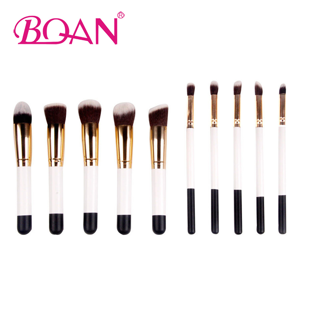 BQAN 10PCs/Set Makeup Brushes Set Comestic Powder Foundation Blush Eyeshadow Eyeliner Lip Beauty Make up Brush Tools купить