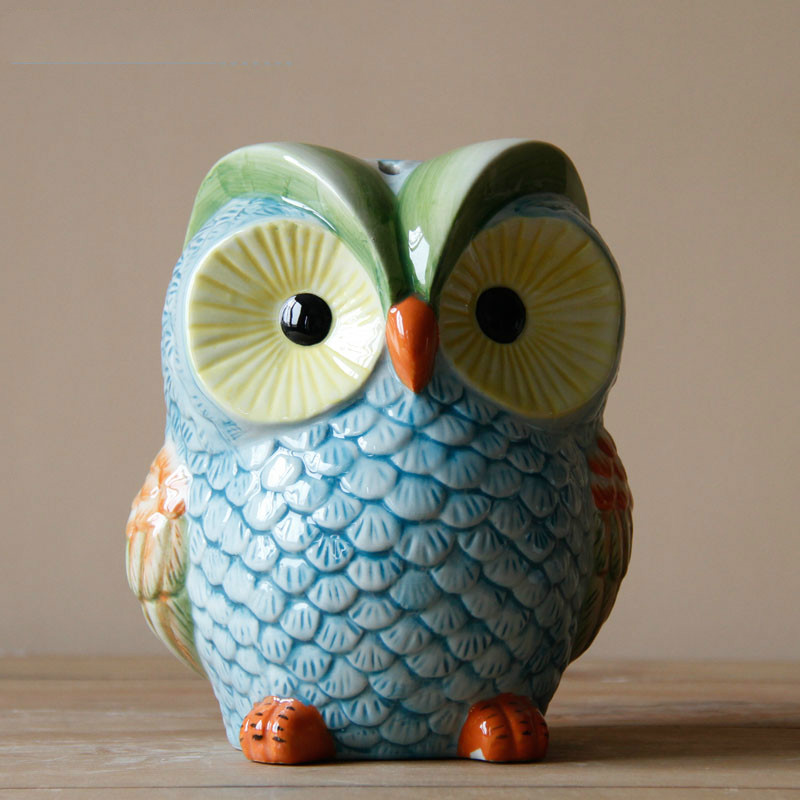 Modern European Style Home Office Decor Ceramic Owl Ornament Table Decoration Wedding Gift-in ...