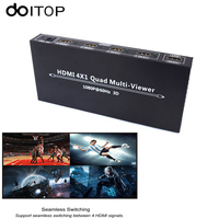 DOITOP HDMI 4X1 Quad Multi Viewer HDMI Quad Screen Real Time Multi Viewer Splitter Seamless Switcher