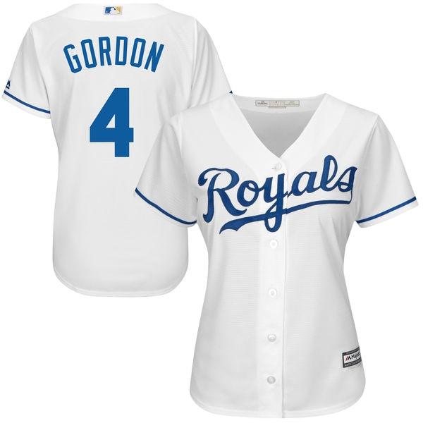 8021307875c ... italy mlb womens kansas city royals alex gordon white home cool base  player jerseychina . 49f0d