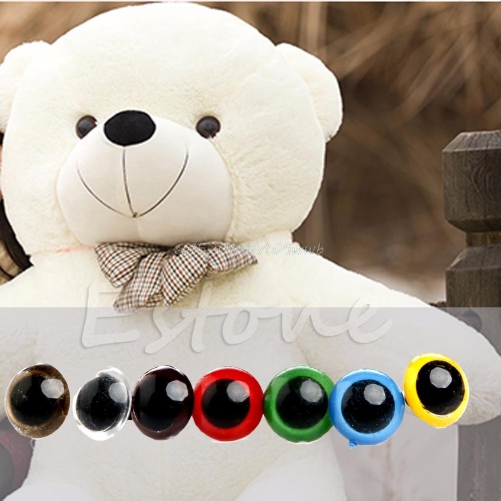 100pcs 10mm warna plastik keselamatan mata untuk teddy bear boneka - Anak patung dan aksesori - Foto 2