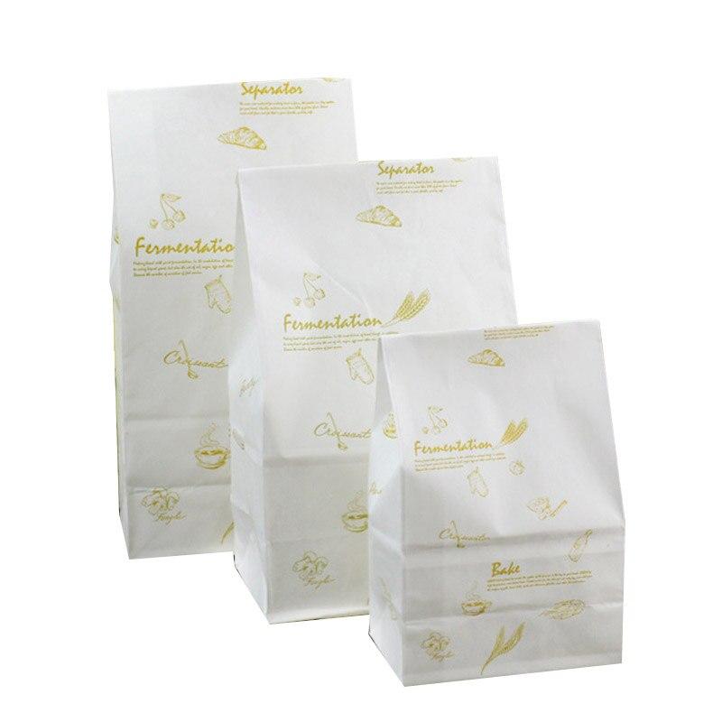 100 pièces brun Kraft papier sacs ficelé alimentaire artisanat bonbons Snack sac cadeau traiter noël événement fête faveur emballage décoration de noël