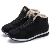 Men S Winter Shoes Men Casual Shoes Snow Shoes Casual Sneakers Warm Footwear Plus Size Black