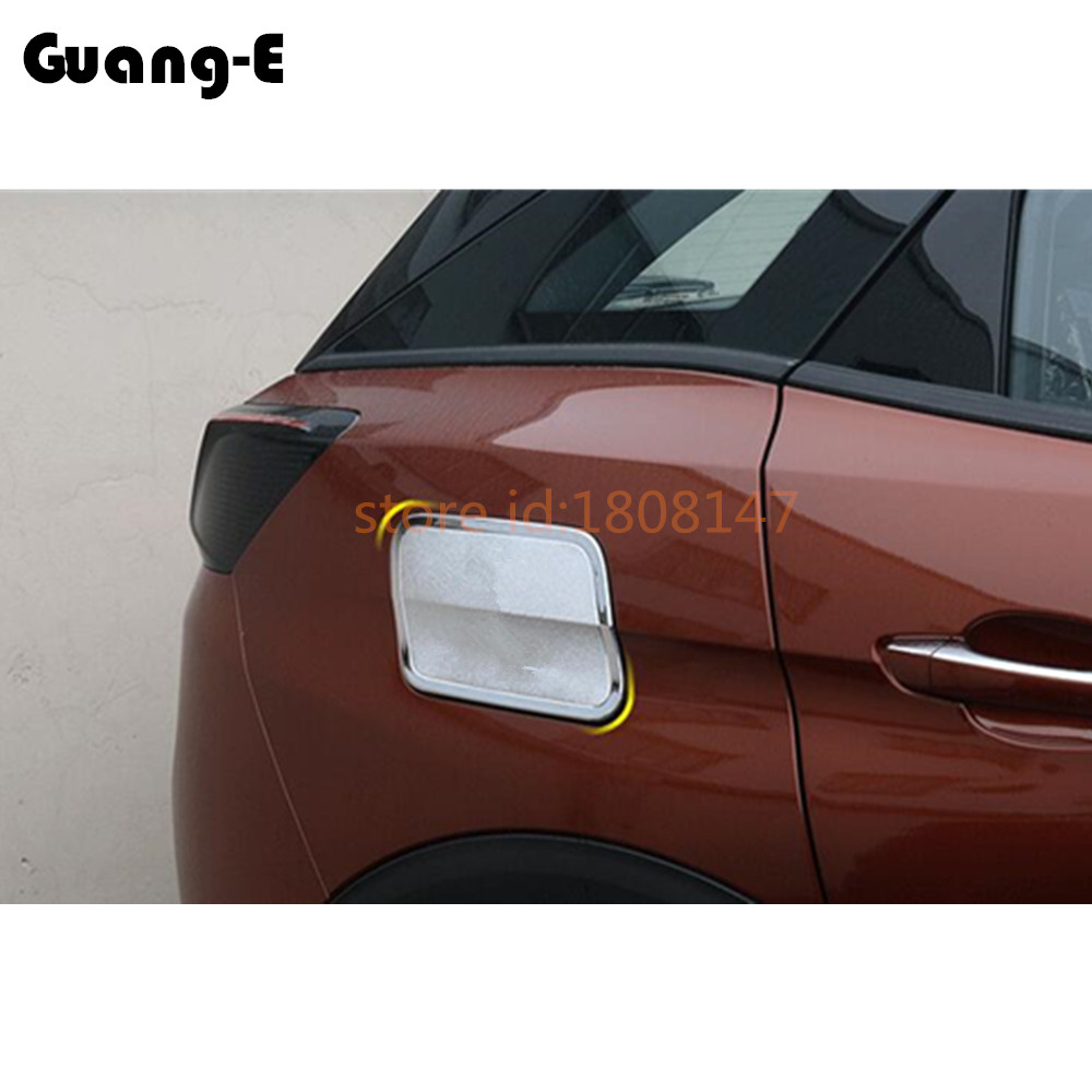 For <font><b>Peugeot</b></font> <font><b>3008</b></font> GT 3008GT <font><b>2016</b></font> 2017 2018 2019 Car Body Gas/Fuel/Oil Tank Cover Cap Stick ABS Chrome Auto Frame Trim 1pcs image
