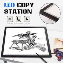 Прочный планшет для рисования, анти-утечка, все включено, доска, трафарет, живопись, акриловый скраб, ощущение письма, светодиодный, накладки для копирования