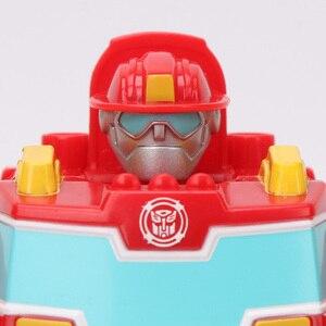 Image 4 - 13 Cm Playskool Heroes Transformers Rescue Bots Energize Heatwave De Fire Bot Hot Shot Rescan Chase De Politie Bot action Figure