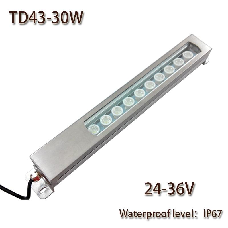 HNTD Led Panel Light 30W DC 24V/36V Concentrating Metal LED Work Light TD43 Waterproof IP67 CNC Machine Work Tool Lighting