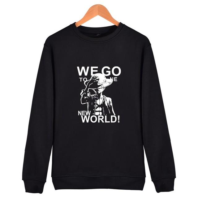 One Piece Printed Hoodie Sweatshirt