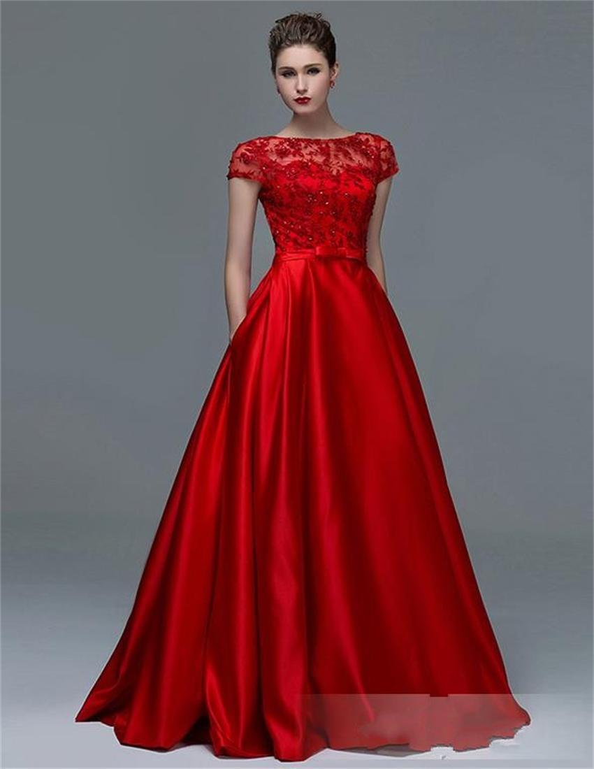 Vestidos elegantes de noche color rojo