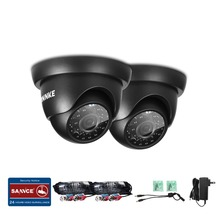 ANNKE TVI Cameras 2PCS Dome 1280TVL Outdoor Fixed Dome Cameras with IP66 Weatherproof Day/Night Vision