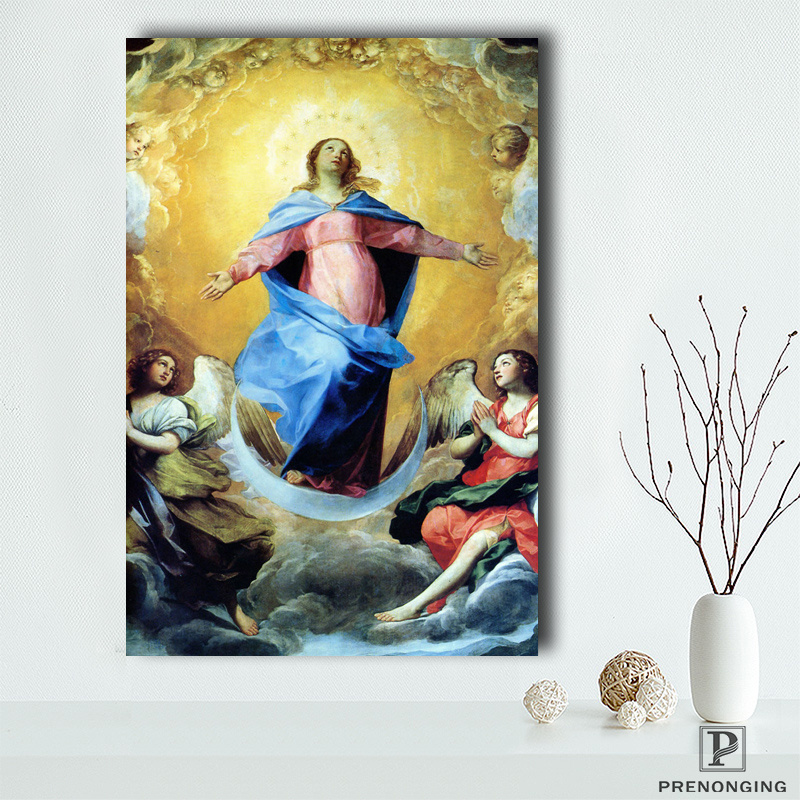 Canvas Poster Silk Fabric OUR LADY OF GUADALUPE POSTER Virgin Mary Catholic Icon Poster Printed Home Decor#190114s04