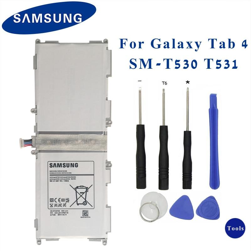 SAMSUNG Original Tablette Batterie EB-BT530FBU EB-BT530FBC Pour Samsung GALAXY Tab4 Tab 4 SM-T530 T531 T535 T537 T533 T535 6800 mAhSAMSUNG Original Tablette Batterie EB-BT530FBU EB-BT530FBC Pour Samsung GALAXY Tab4 Tab 4 SM-T530 T531 T535 T537 T533 T535 6800 mAh