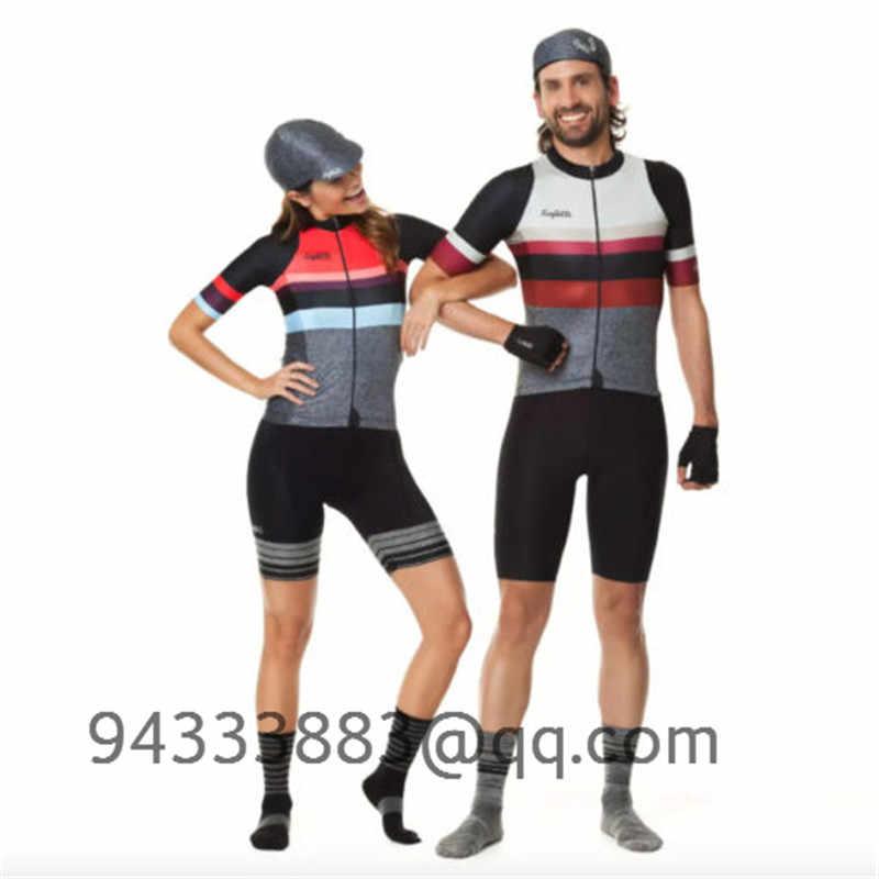2019 Bersepeda Jersey Set Pasangan Memakai Sepeda Tim Bersepeda Set Ropa Ciclismo Hombre Bicicleta Kustom Bersepeda Pakaian Triathlon Suit
