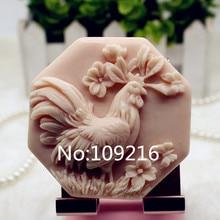 Продукт! 1 шт. Китайский Зодиак, курица(zx350) Пищевая силиконовая форма для мыла ручной работы