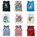 Sem mangas Meninos Camisetas Crianças Encabeça Singlets Varejo crianças Colete bebê menino top T-shirt Camisas do menino roupas de verão