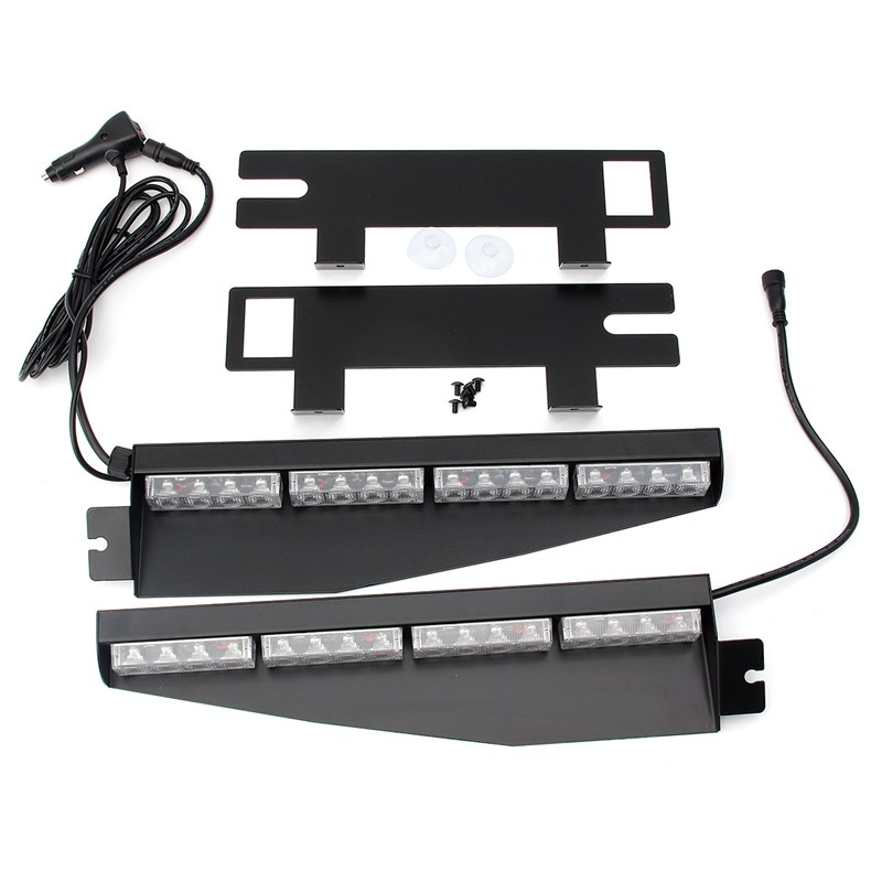 ФОТО 2pcs 32 Leds Emergency Lights Flash Warning LED Light 32W Hight Power Strobe Light Fireman Flash Stroboscope Car Styling
