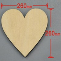 9pcs/lot Blank unfinished wooden heart crafts supplies laser cut rustic wood wedding rings ornaments 260mm 171141
