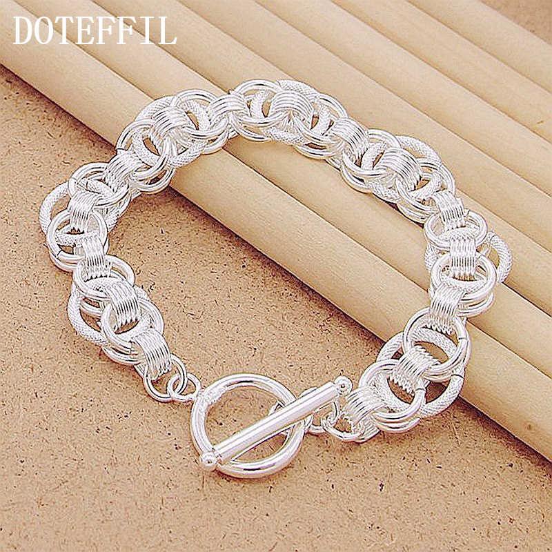 925 kolor srebrny bransoletki wąż łańcuch śruba pasuje europejskiej Plated srebrne wisiorki koraliki 20CM długość DIY biżuteria Party prezent