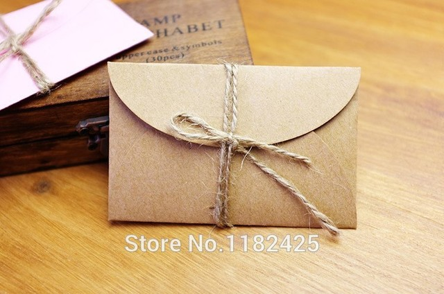 Diy handmade kraft paper envelope wedding party invitation card diy handmade kraft paper envelope wedding party invitation card business card 20pieceslot colourmoves