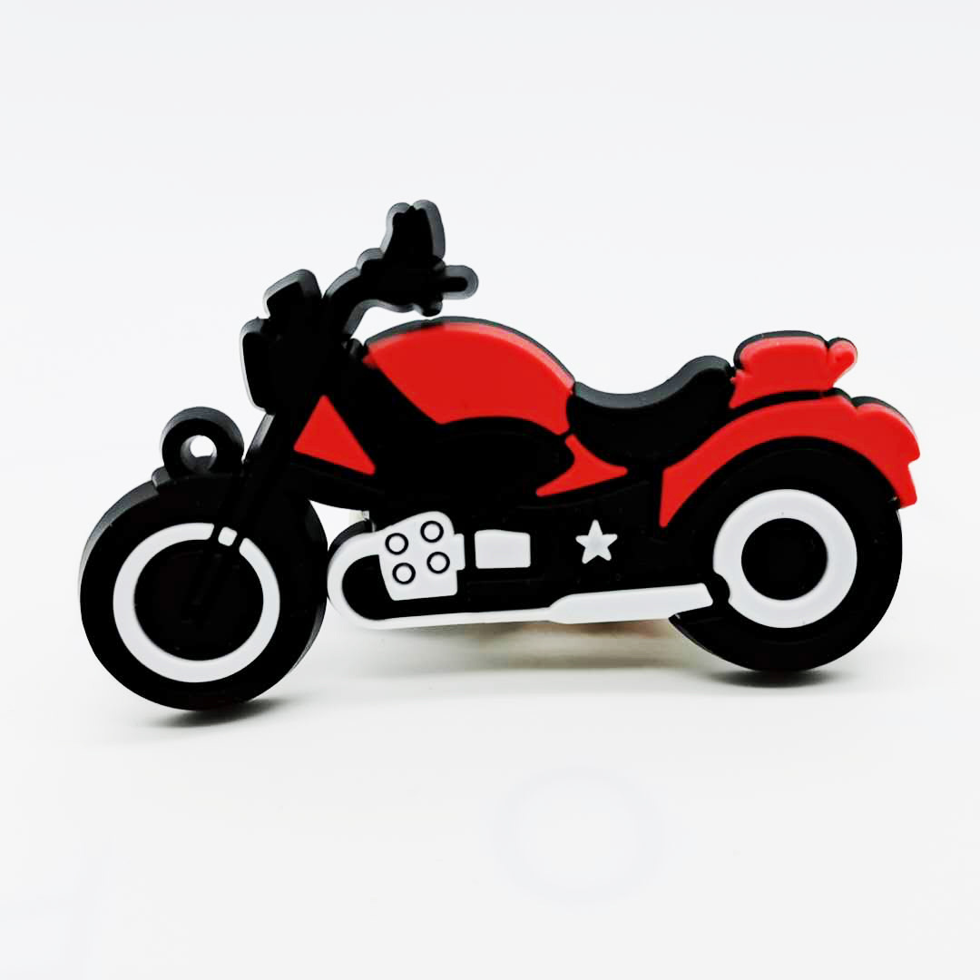 New motorcycle model Key Chains PVC soft glue pendant car key ring phone  shell pendant fashion accessories