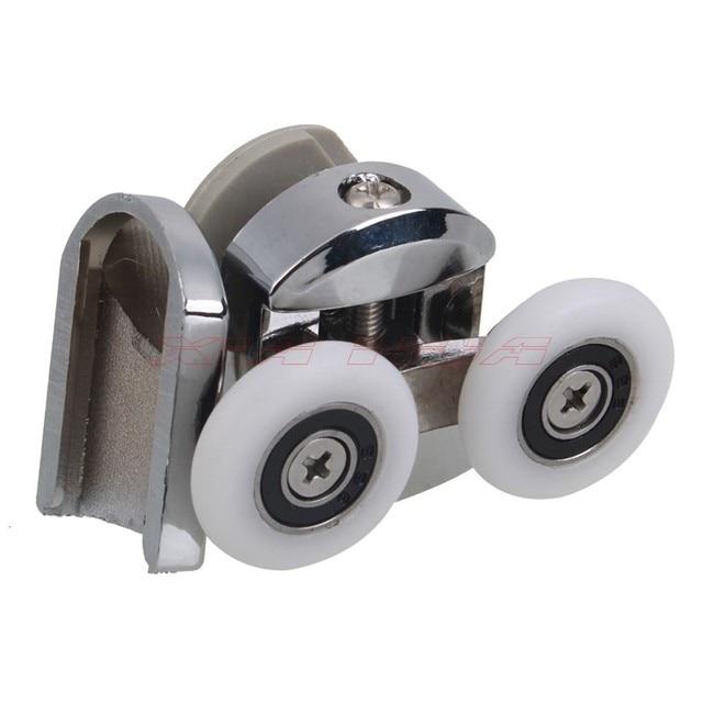 2 stcke 55x23mm zinklegierung duschtr frhling rollen bad schiebetr rollen duschtr frhling oberen roller - Duschtur Rollen