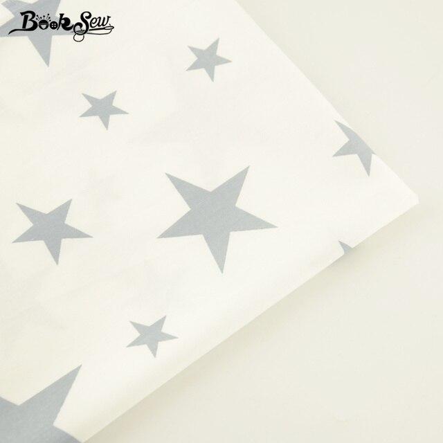Tissu en sergé de coton doux | Tissu de coton cousu à la maison, tissu de couture Design étoiles de Gary, Tela gros quart pour drap de lit, poupée Beding