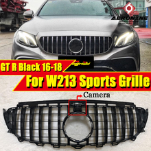 W213 GTS grille grill ABS Black With camera For MercedesMB E class E180 E200 E250 E300 E350 Sports Front grills without sign 16-