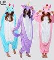 Unicorn Tenma Adult Unisex Pajamas Suits Cartoon Animal Cosplay Costume Flannel Onesies Sleepwear