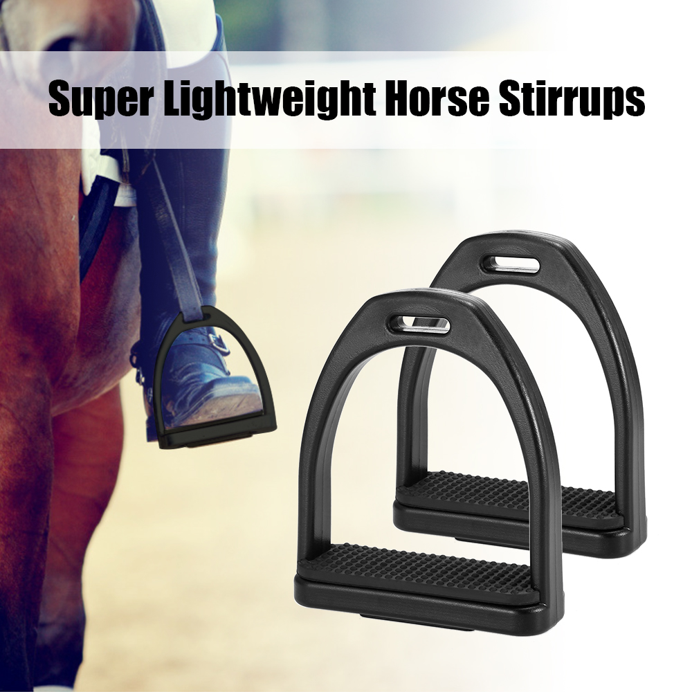 Image 5 - 2 PCS Horse Riding Stirrups Plastic Horse Saddle Anti skid Horse Pedal Super Lightweight Equestrian Safety Equipment-in Horse Care Products from Sports & Entertainment