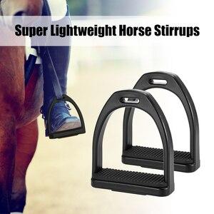 Image 5 - 2 PCS Horse Riding Stirrups Plastic Horse Saddle Anti skid Horse Pedal Super Lightweight Equestrian Safety Equipment