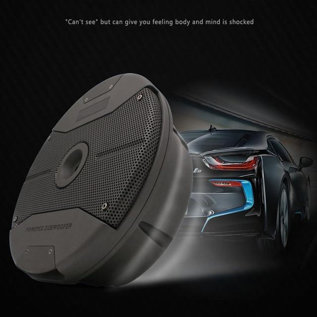 Car audio spare tire subwoofer Double 6.5 inch car active subwoofer 12V audio conversion