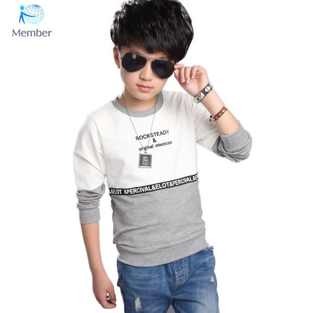 f2c14f56d Boys t shirt 5 13Years kids t shirt fashion boy spring autumn streetwear ...