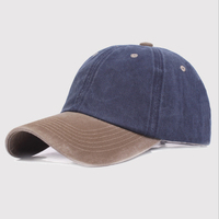 Summer Cotton Snapback Baseball Cap For Women Men Washed Retro Type Casquette Gorra Dad Hats Two