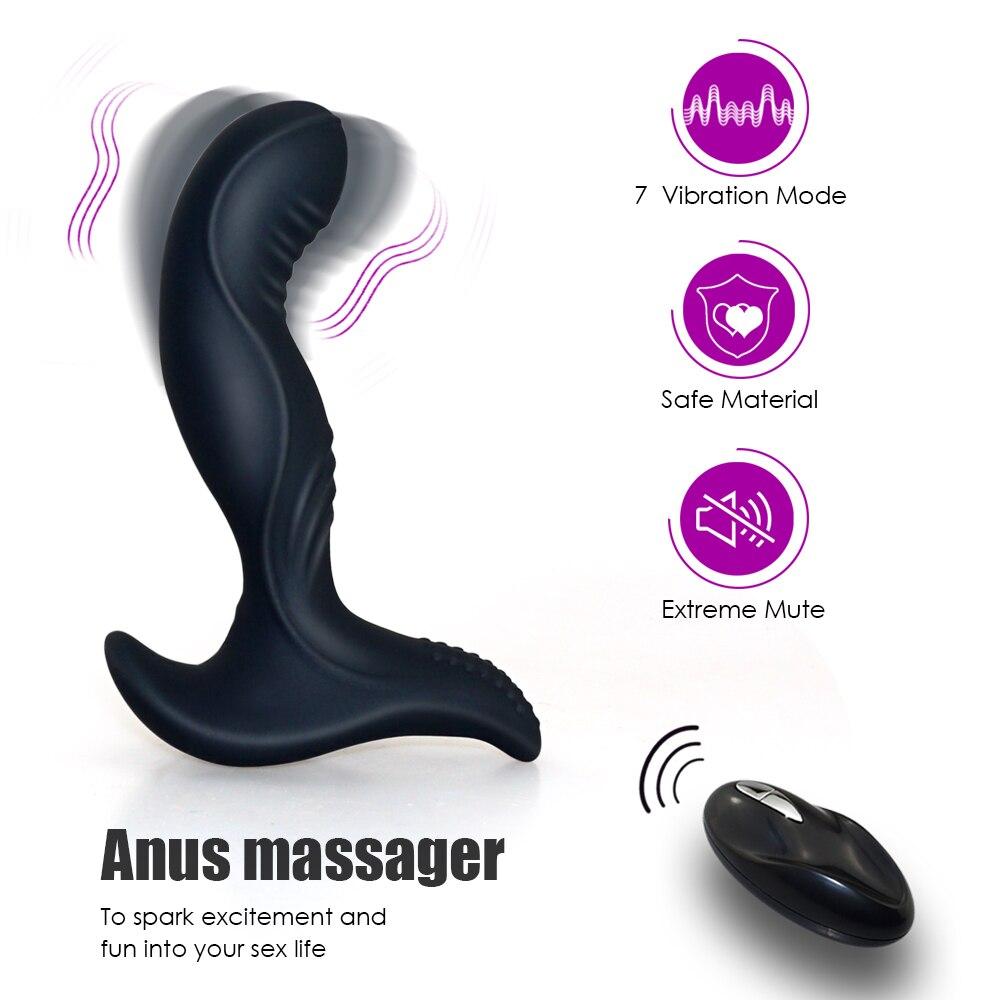 _01USB Charging Wireless Remote Anal Plug Vibrator Prostate Massager Man Masturbator Silicone Butt Plug Vibrator Gay Anal Sex Toys