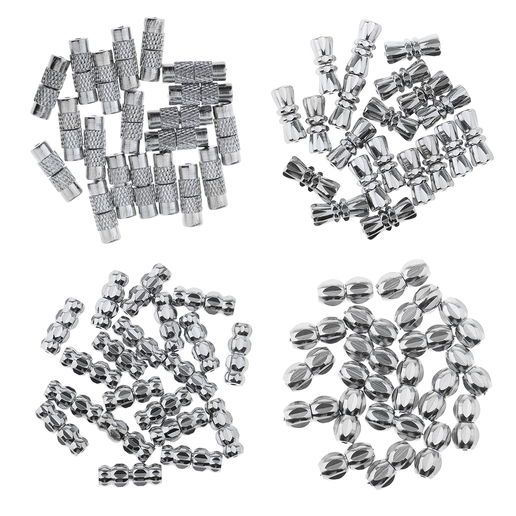 20PCS Screw Lock Clasps Connectors for Necklace //Bracelet Jewelry Findings