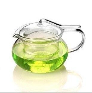 1 STÜCK heißer verkauf hitzebeständigem glas blume druck teekanne 500 ml OL 0007
