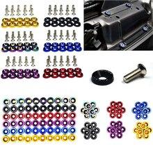 Tornillos pasadores hexagonales M6 JDM para coche, arandela de parachoques, motor cóncavo, arandela de guardabarros, pernos de placa de matrícula, estilismo para coche, 10 Uds.