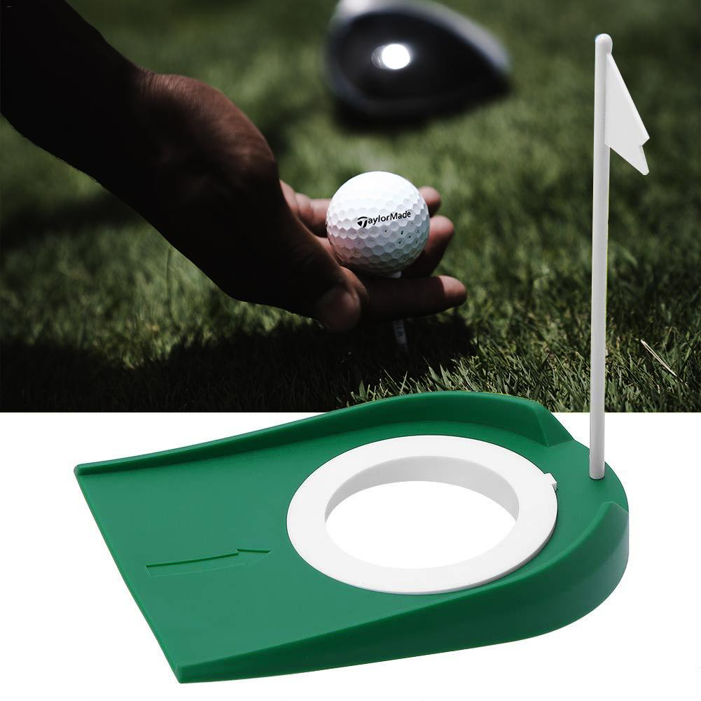 High Quality Golf Putting Practice Cup Golf Putting Green Regulation Cup Hole With Flag Indoor Practice Training Aids Portable