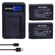 2 Stücke 1040 mAh LP-E17 LP E17 Batterie + LCD UNTER Ladegerät für Canon EOS 200D M3 M6 750D 760D T6i T6s 800D 8000D Kuss X8i kameras