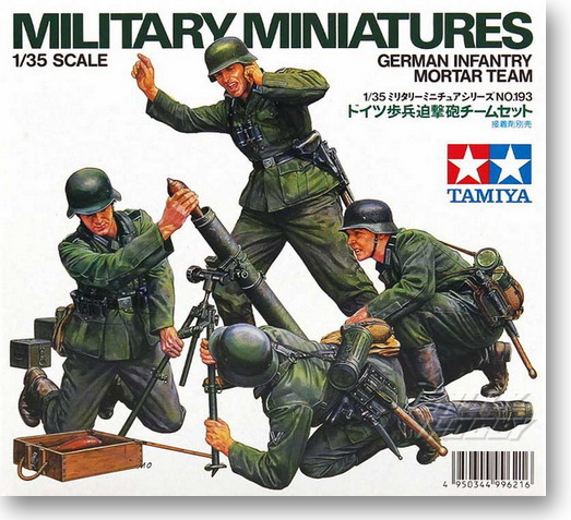 1/35 German Army Mortar Launch Team Soldier Model 35193