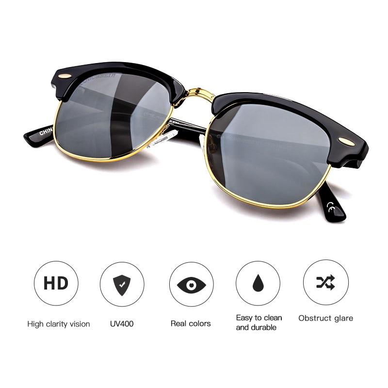 COLOSSEIN Gafas de sol redondas polarizadas para hombre Moda clásica - Accesorios para la ropa - foto 4