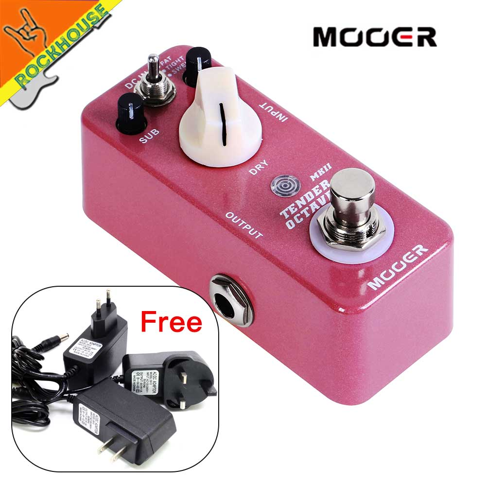 Mooer Octave Guitar Effects Pedal octaver Guitar Pedal Organ simulator Church Music Style 9V adapter giveaway Free Shipping free shipping electric amp effects pedal simulator distortion and cabinet of a guitar accessories amplifier musical instruments